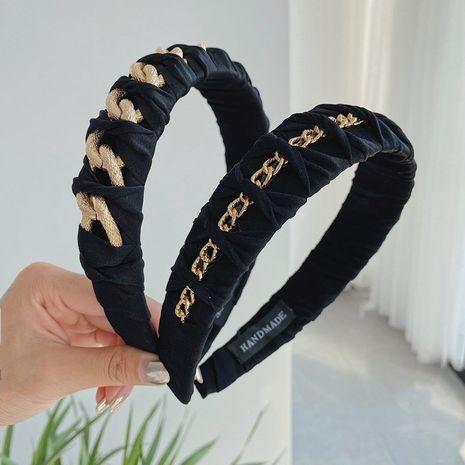 La venda vendedora caliente de la cadena de la aleación de la moda trenzó la venda anudada de lados ancha NHSM260838's discount tags
