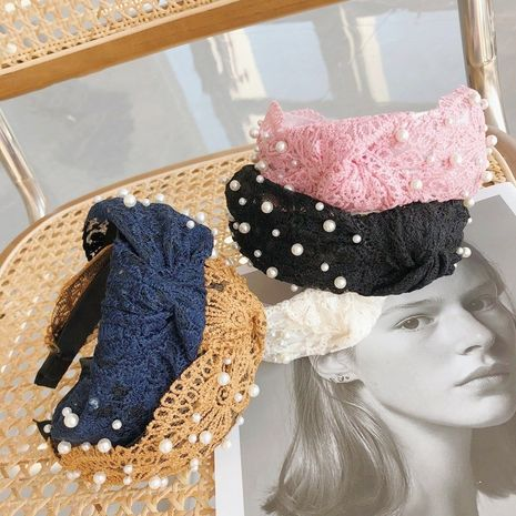 Hot selling fashion wide-sided knotted headband wholesale NHSM260844's discount tags