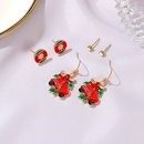 Christmas threepiece dripping Santa Claus bell holiday style alloy earrings NHDP260871