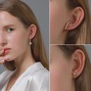 Fashion retro flavor pearl simple wild no pierced alloy earrings  wholesale NHDP260885