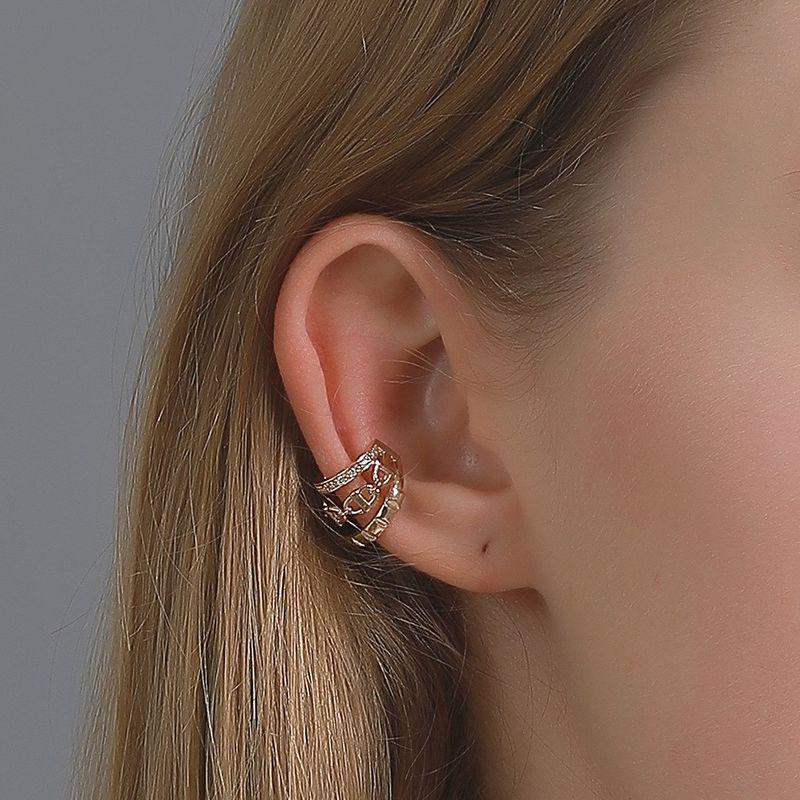 Fashion new threelayer diamond chain nonpierced earrings wholesale NHDP260887
