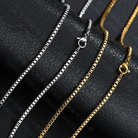Hot Selling Mode Titan Stahl Damen Halskette Großhandel NHHF260899's discount tags