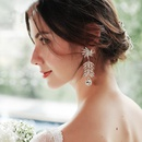 Fashion new Flower Diamond Long Exaggerated Earrings  NHHS260903
