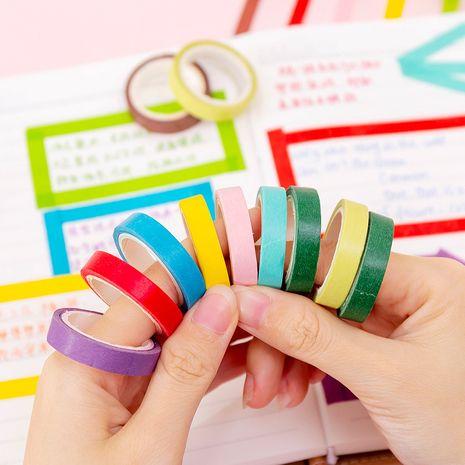 Cinta decorativa DIY de diario de cinta de papel triturado de color caramelo, 10 rollos de color aleatorio NHNU261398's discount tags