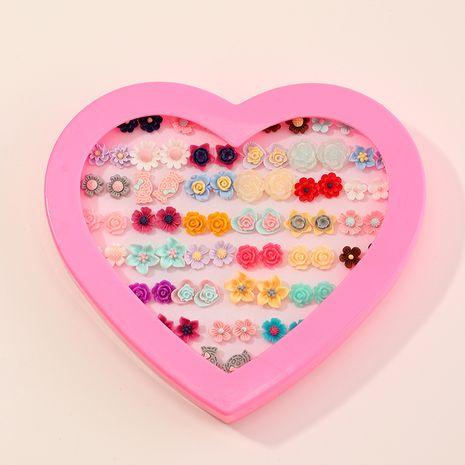 36 paires de boucles d'oreilles fleurs de couleurs mélangées NHNU261965's discount tags