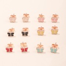 6 pairs of colorful butterfly earrings  NHNU261961
