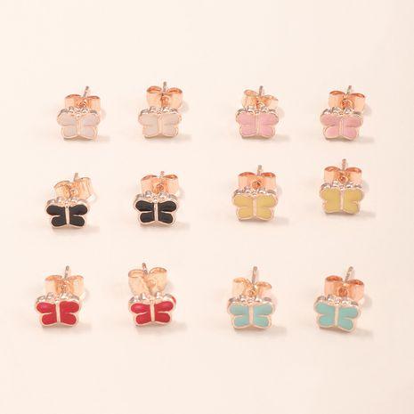 6 paires de boucles d'oreilles papillon colorées NHNU261961's discount tags