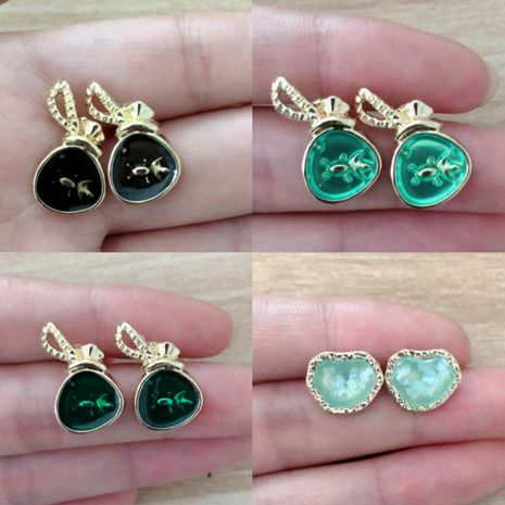 fashion color drip oil goldfish retro simple irregular earrings for women NHGY261399's discount tags