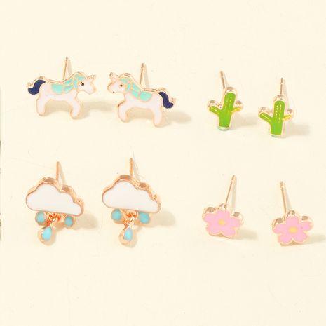 Boucles d'oreilles couleur 4 paires de boucles d'oreilles NHNU261962's discount tags