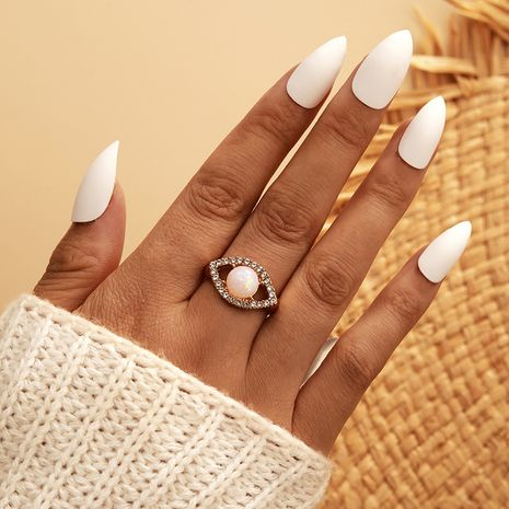 new fashion hot-selling simple geometric full diamond  micro inlaid zircon ring  NHGY261394's discount tags