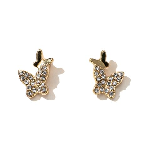 new fashion butterfly simple s925 silver needle earrings  NHGY261390's discount tags