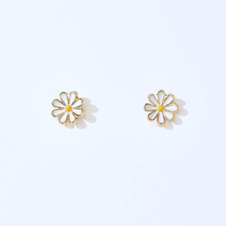 925 silver needle small daisy flower Korean wild simple earrings for women wholesale NHGY261392's discount tags