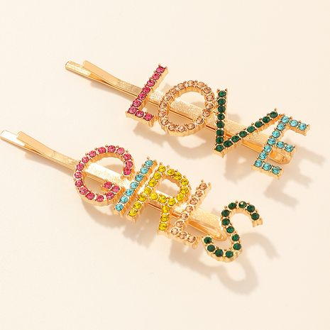 Color letter hairpin set  NHNU261956's discount tags