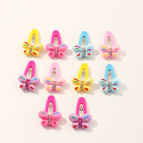 fashion simple mixed color butterfly hair clips set  NHNU261955's discount tags