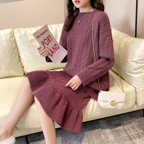 new fashion ladies loose suit skirt sweater suit two-piece for women NHIS261383's discount tags