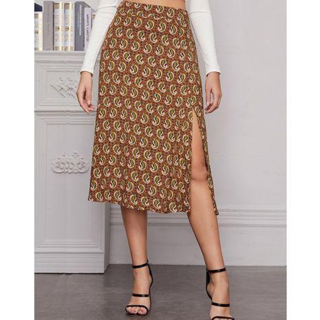 nuevo estilo falda étnica dividida con flores de anacardo NHJG261363's discount tags