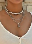 multilayer unique shape fashion ladies new necklace  NHAJ261405