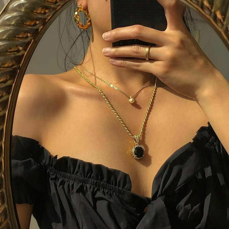 Korea Fashion Trend New Pearl Pendant Women's Necklace NHAJ261408