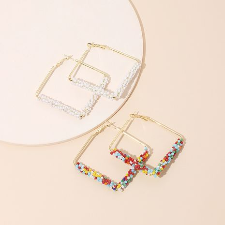 hot-saling bohemian style rice bead new earrings for women NHRN261441's discount tags