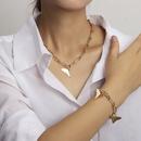 fashion geometric triangle new alloy necklace bracelet  NHRN261443