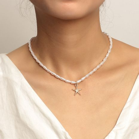 Fashion pearl new necklace for women NHRN261444's discount tags