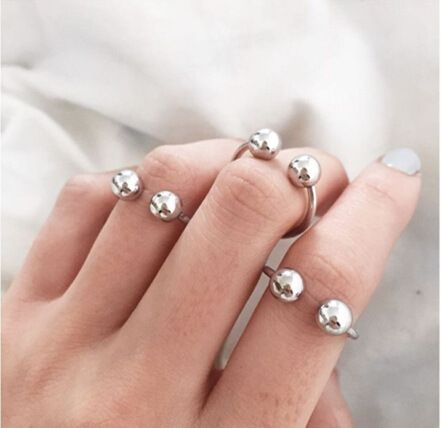 New fashion ball simple ring for women hot-selling wholesale NHRN261450's discount tags
