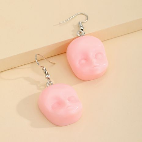 Fashion Halloween elf head baby face resin earrings NHGO261467's discount tags