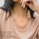 Fashion  925 Silver Round Pendant necklace for women NHTF261475