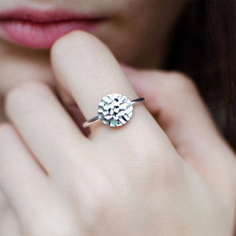 Fashion simple 925 silver round geometric ring for women hot-saling wholesale NHTF261489's discount tags