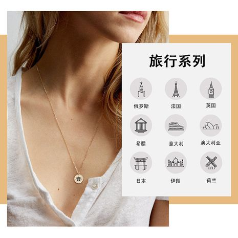 Fashion 316L titanium steel lettering new clavicle chain necklace NHTF261502's discount tags