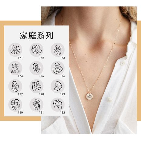 new Korean simple titanium steel rose gold necklace geometric round pendant necklace wholesale  NHTF261506's discount tags