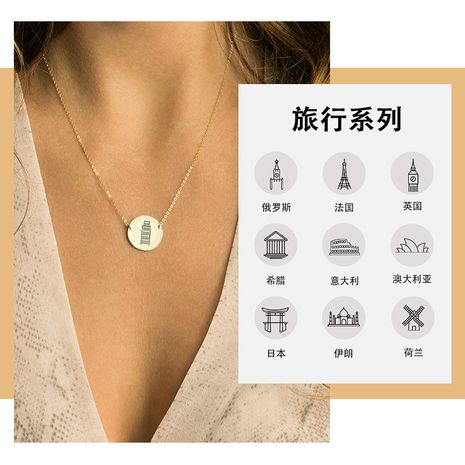 hot-selling fashion 316L titanium steel necklace  wholesale  NHTF261536's discount tags