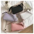 autumn new fashion woven shoulder PU trendy womens handbag  NHRU261569