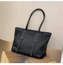 Zipper trend fashion oneshoulder portable belt decoration large capacity shopping womens tote bag  NHRU261571