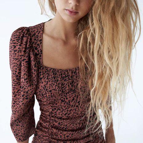 Al por mayor nuevo vestido estampado de otoño con decoración plegable para mujer NHAM261584's discount tags