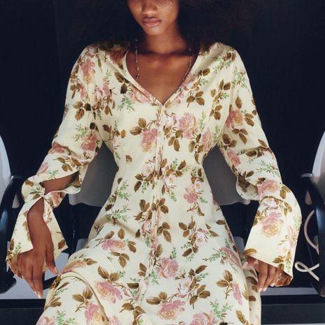 Al por mayor nuevo vestido largo de manga larga con estampado de otoño para mujer. NHAM261586's discount tags