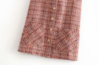wholesale new fashion loose tweed jacket cardigan vest for women NHAM261610