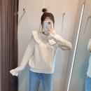 fashion  embroidery neckline lapel womens knit sweater top  NHAM261612