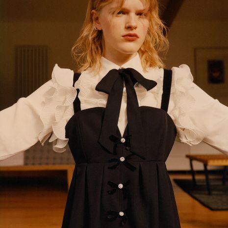 Al por mayor vestido de correa de hombro con botón de nueva moda NHAM261616's discount tags