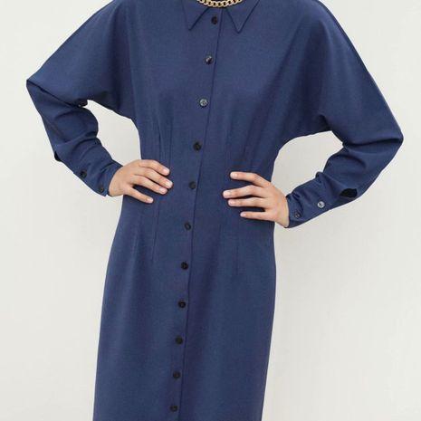 wholesale nuevo otoño con cinturón, camisa, vestido de manga larga para mujer. NHAM261620's discount tags