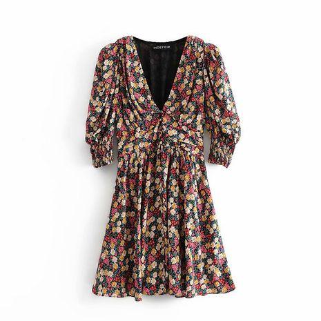 wholesale nuevo vestido de estampado de hombreras retro de otoño para mujer. NHAM261626's discount tags