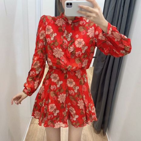 Al por mayor nuevo vestido de manga larga con estampado de flores de otoño para mujer. NHAM261628's discount tags