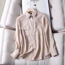 wholesale  new single pocket back slit loose simple longsleeved shirt  for women NHAM261651