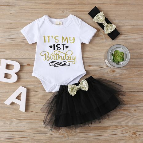 moda bowknot bebé niñas ropa conjunto de 3 piezas venta caliente NHLF261660's discount tags