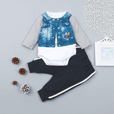 casual bebé guapo pantalones británicos traje chaqueta pantalones falsos de dos piezas NHLF261663's discount tags