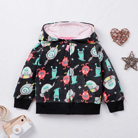 ropa para niños chaqueta con cremallera de dibujos animados bebé casual suéter con cremallera NHLF261664's discount tags