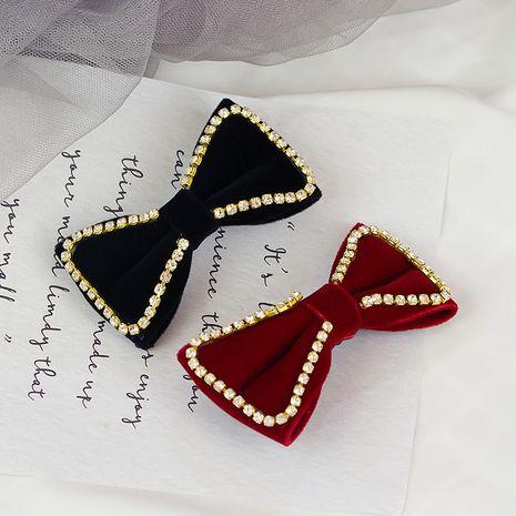 Women's red Korean rhinestone big bow  clip  NHWF261411's discount tags