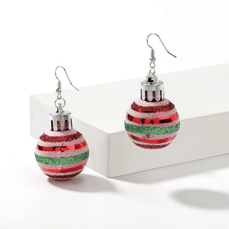 Christmas  striped lights spherical  earrings  NHJE261686's discount tags