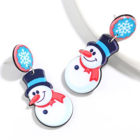 Boucles d'oreilles bonhomme de neige en résine série Noël NHJE261689's discount tags