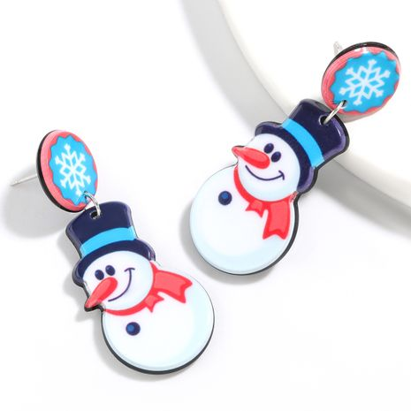Christmas series resin snowman earrings NHJE261689's discount tags